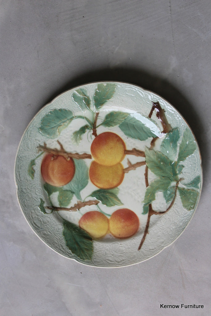 French Majolica Apricot Plate - Kernow Furniture