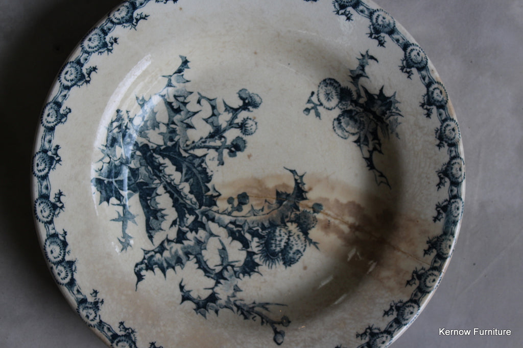 Pair Chardons Porcelaine Opaque de Gien Plates - Kernow Furniture