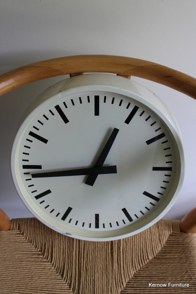 Vintage Industrial Wall Clock - Kernow Furniture