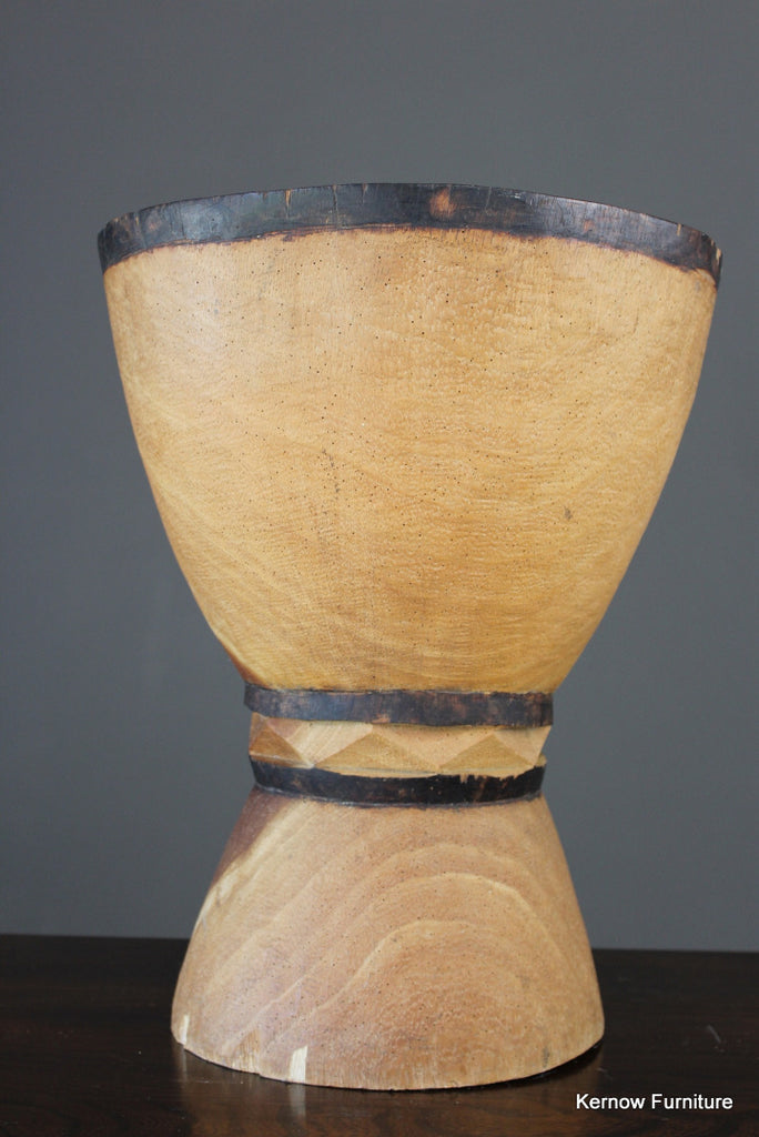 Large African Wooden Mortar