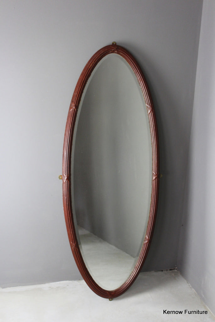 Large Oval Edwardian Mirror