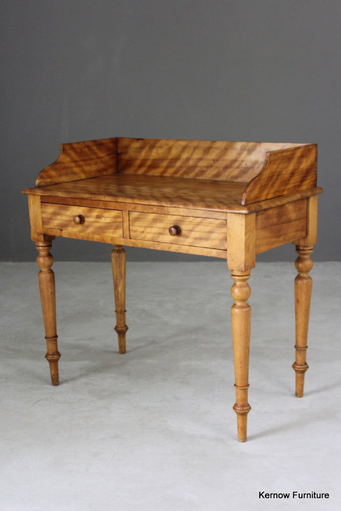 Antique Satin Birch Side Table - Kernow Furniture