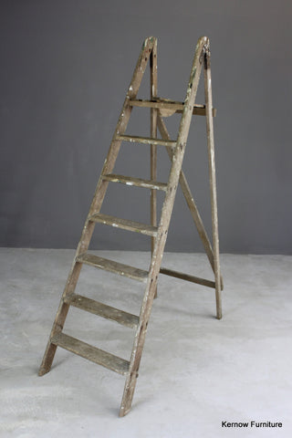 Large Vintage Wooden Step Ladders