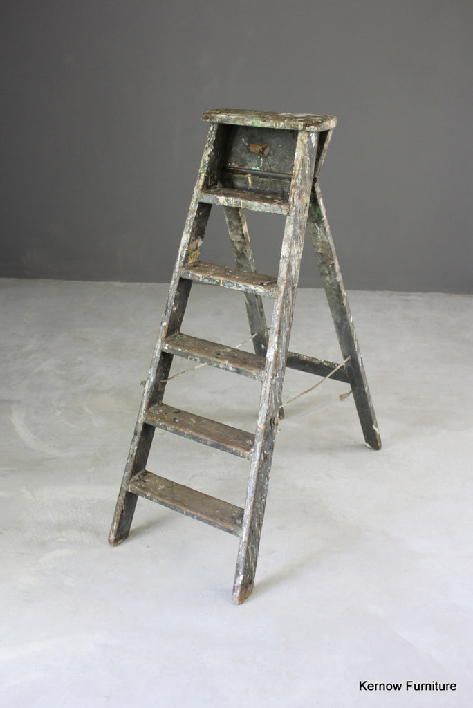 Rustic Pine Step Ladders - Kernow Furniture