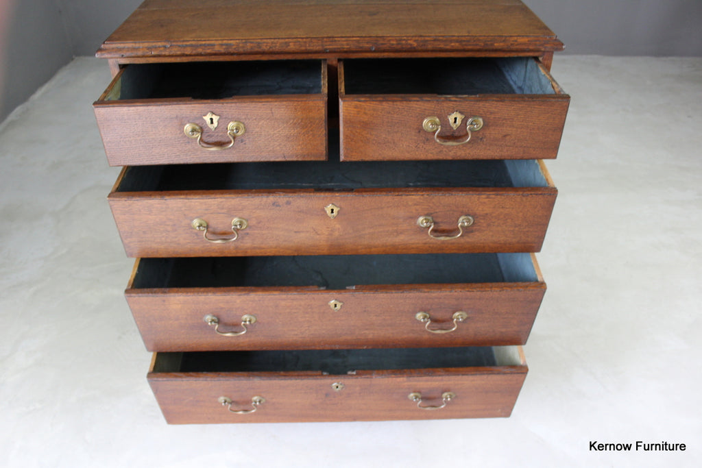 Georgian Oak Chest of Drawers - Kernow Furniture