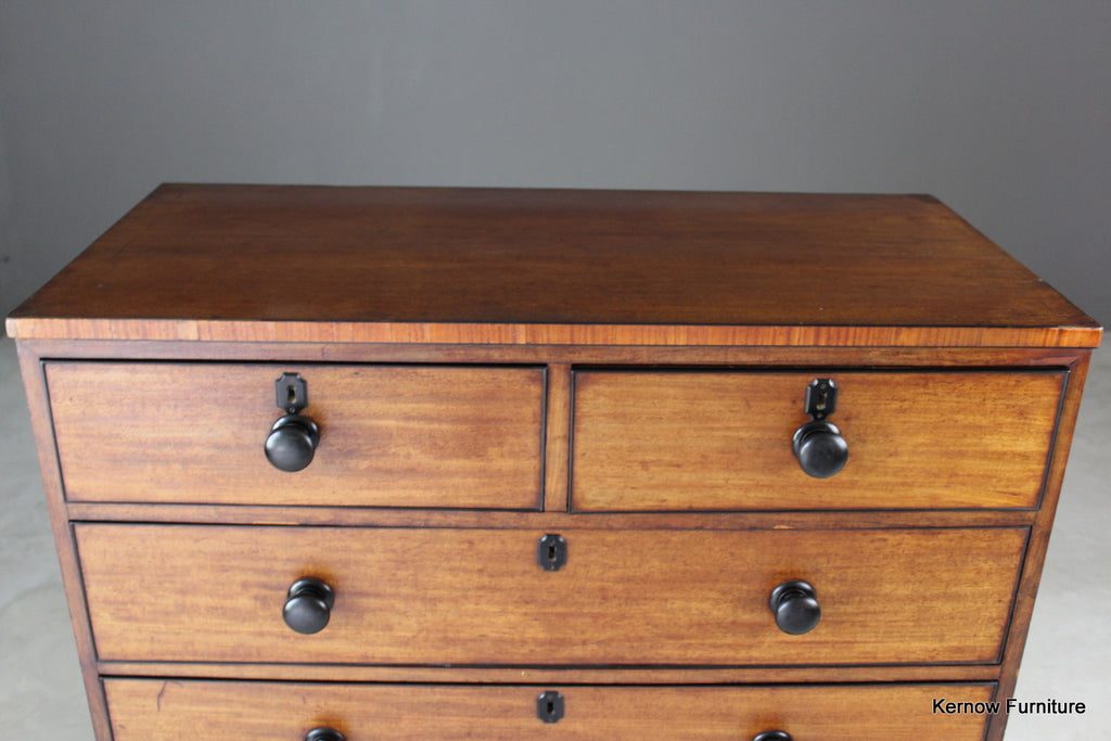 Antique Mahogany Chest of Drawers - Kernow Furniture