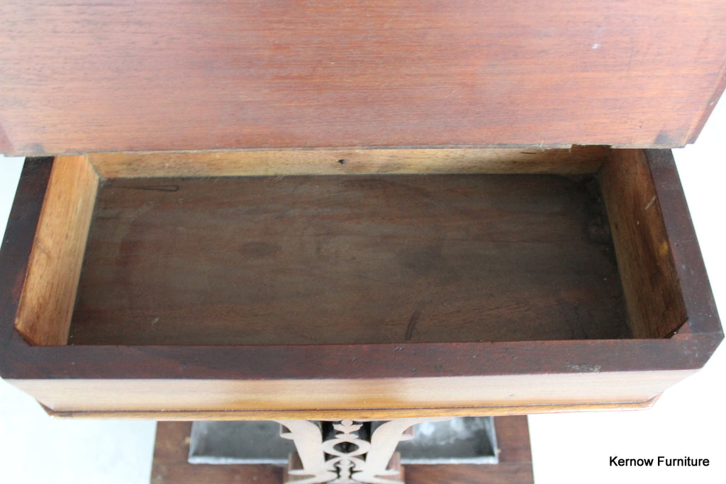 Antique Mahogany Hall Stand - Kernow Furniture