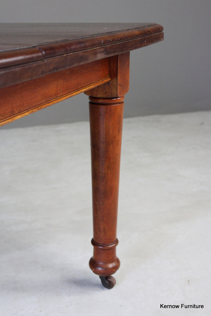 Antique Mahogany Extending Dining Table - Kernow Furniture