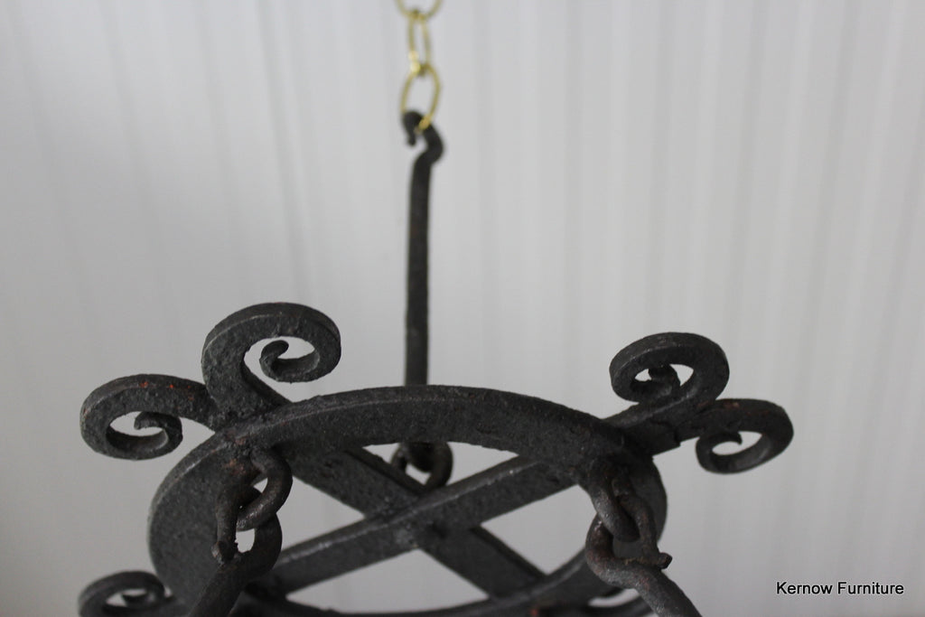French Iron Ring Chandelier - Kernow Furniture