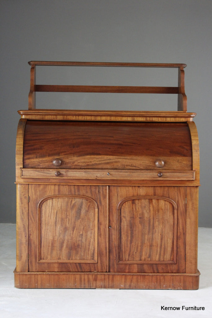 Victorian Mahogany Barrel Desk - Kernow Furniture