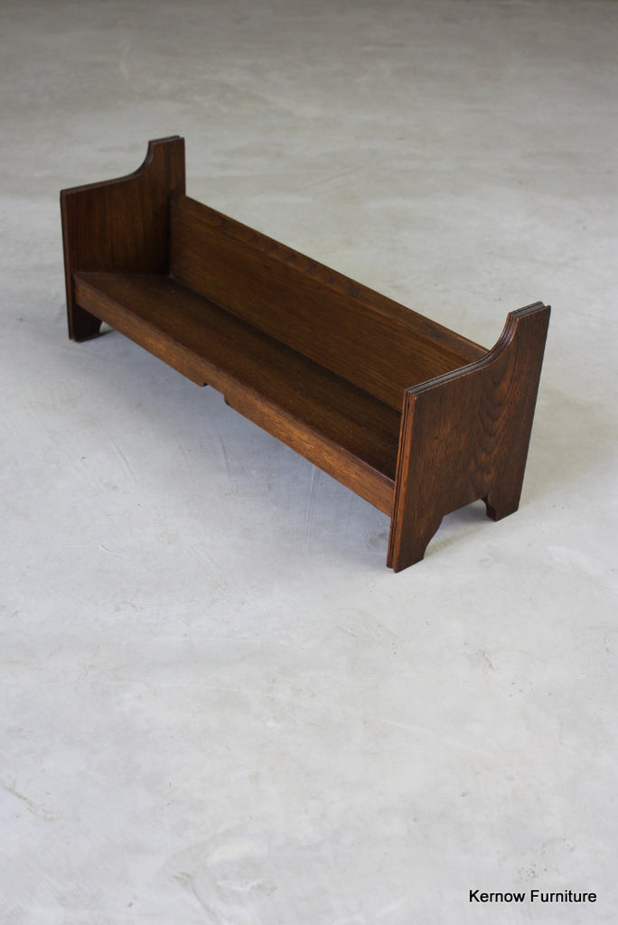Early 20th Century Oak Book Trough - Kernow Furniture