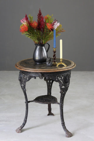 A. Reynolds Cast Iron Pub Table - vintage retro and antique furniture