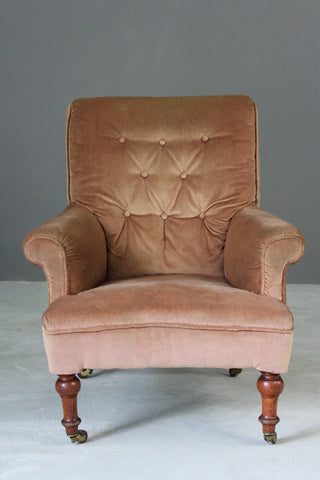 Button Back Arm Chair