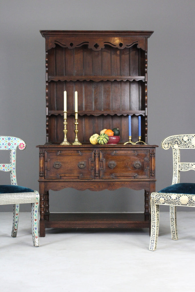 Early 20th Century Dark Oak Dresser - Kernow Furniture