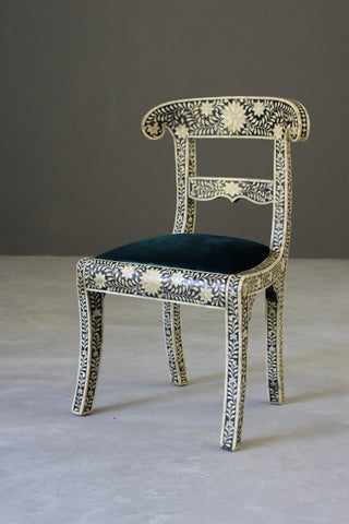 Single Anglo Indian Bone Inlay Chair - Kernow Furniture