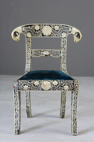 Anglo Indian Inlaid Bone Chair