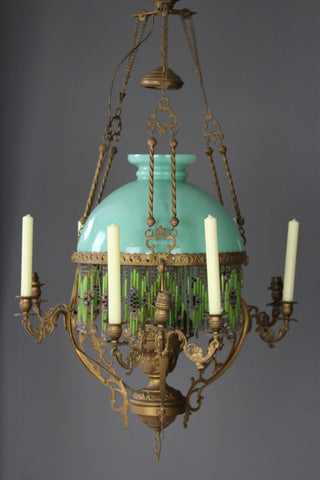 French Oil Lamp Chandelier - Kernow Furniture