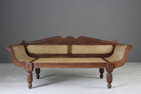 Anglo Indian Caned Sofa