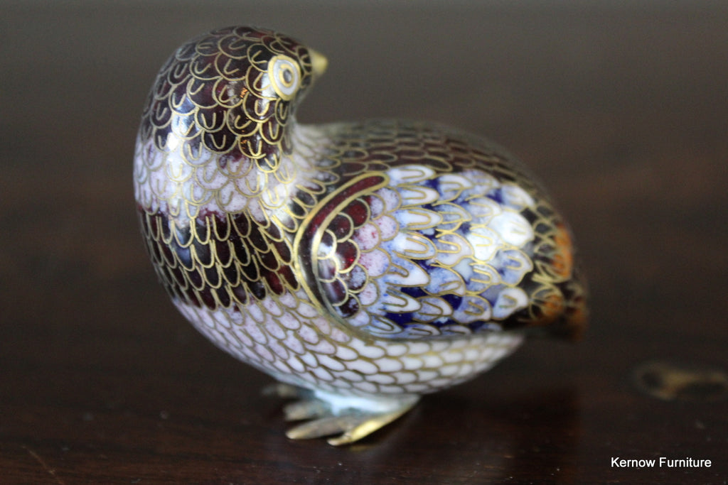 Chinese Cloisonne Quail - Kernow Furniture