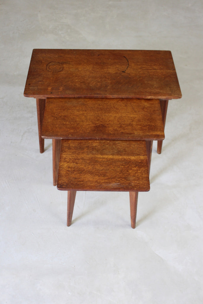 Robin Nance Oak Nest of Tables - Kernow Furniture