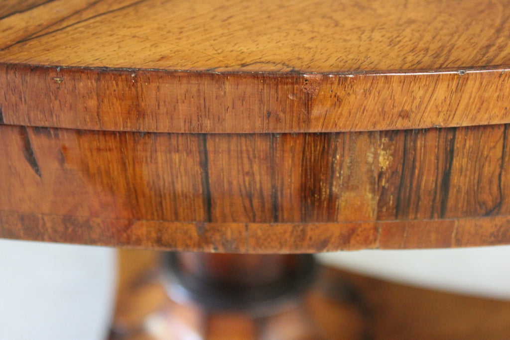 Antique Rosewood Tilt Top Table - Kernow Furniture