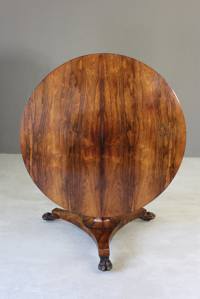 Antique Rosewood Tilt Top Table - vintage retro and antique furniture