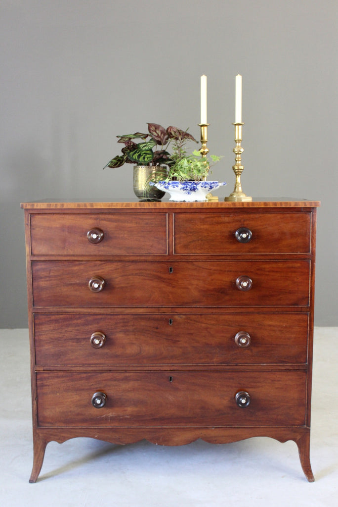 Antique Georgian Chest of Drawers - vintage retro and antique furniture