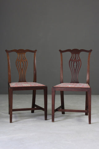 Pair Georgian Style Dining Chairs