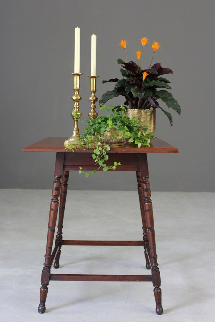 Victorian Mahogany Square Side Table - Kernow Furniture