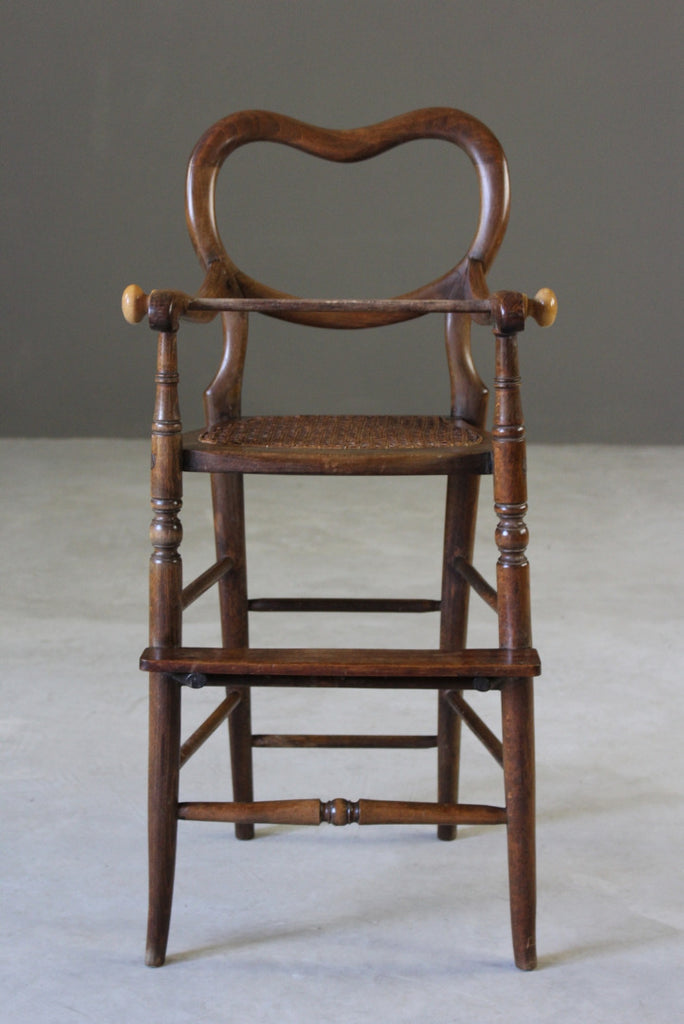 Caned Childs High Chair