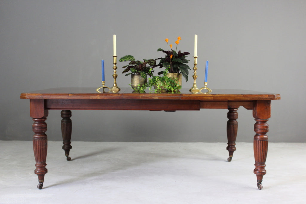 Antique Walnut Extending Dining Table - vintage retro and antique furniture