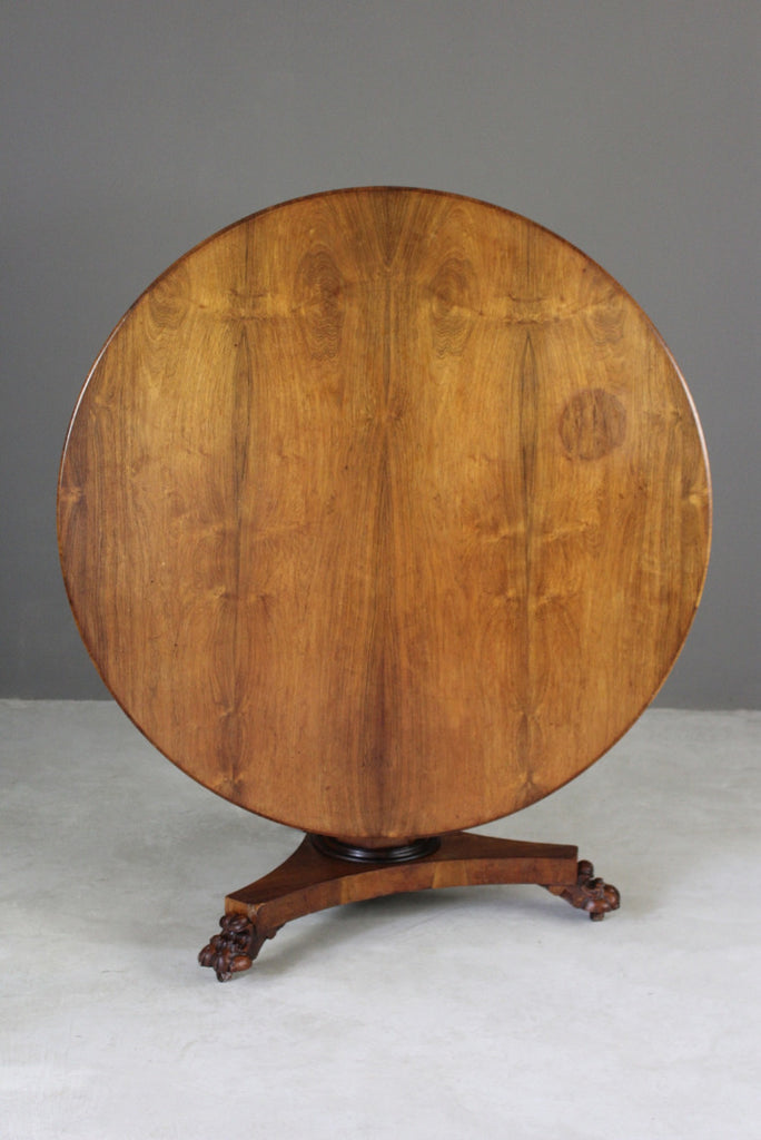 Early 19th Century Rosewood Tilt Top Table - Kernow Furniture
