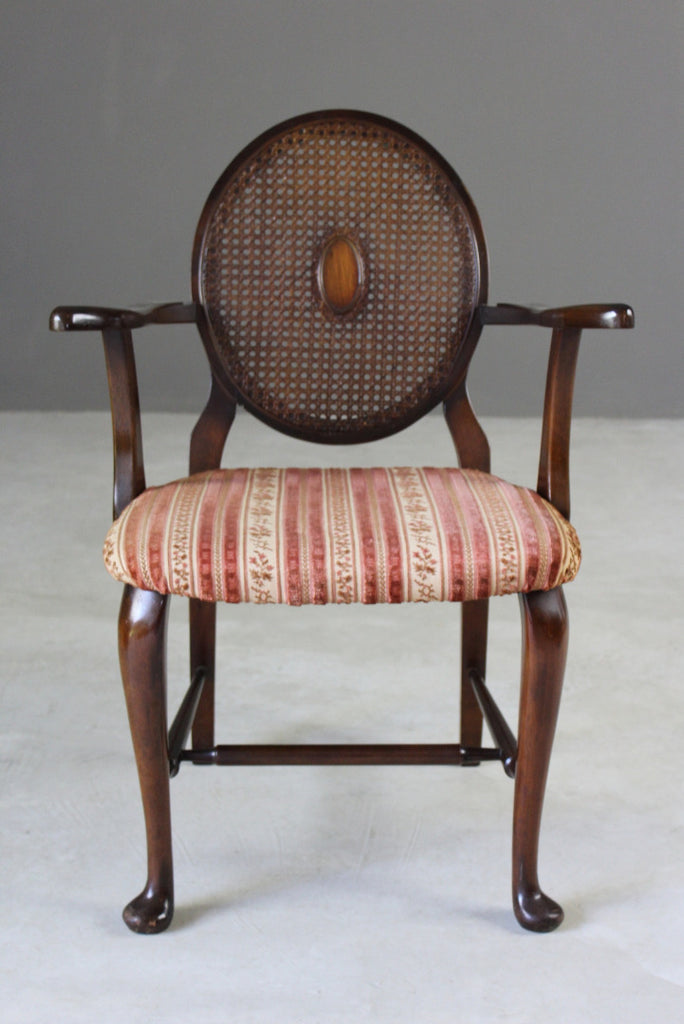 Antique Study Cane Back Chair - vintage retro and antique furniture