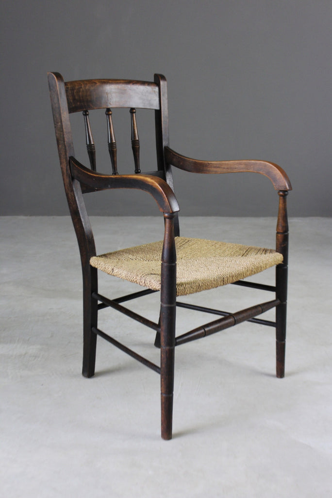 Rustic Country Style Carver Chair