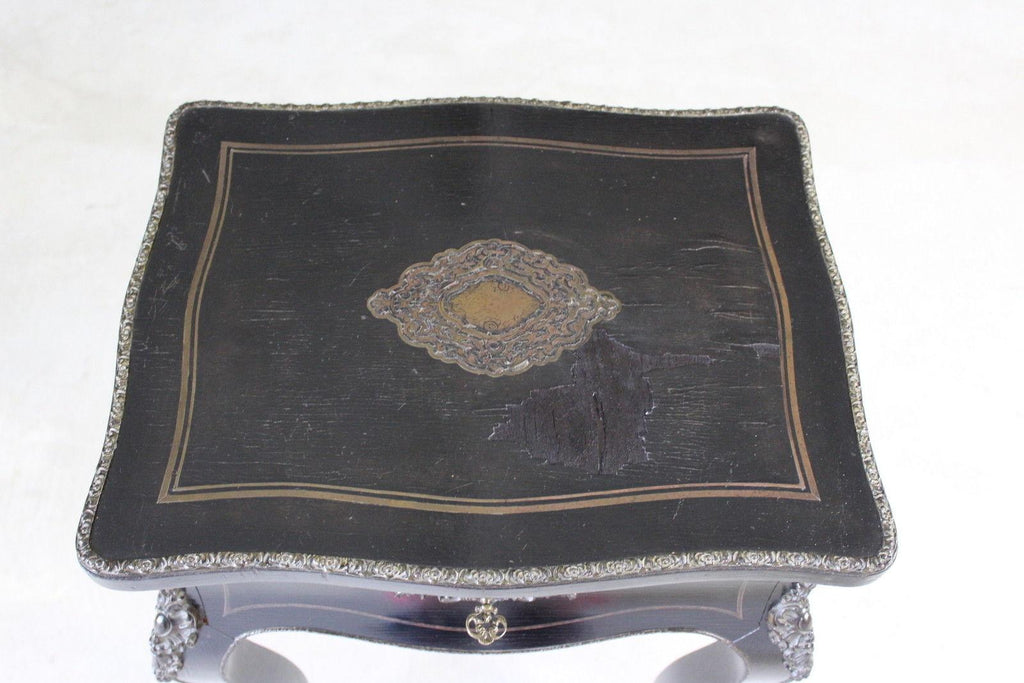 French Ebonised Work Table - Kernow Furniture