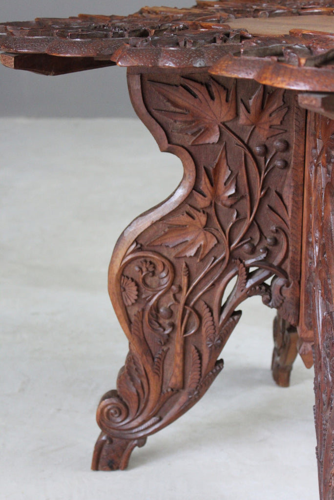 Carved Indian Side Table - Kernow Furniture