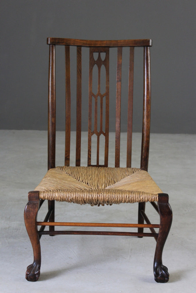 Early 20th Century Rush Occasional Chair