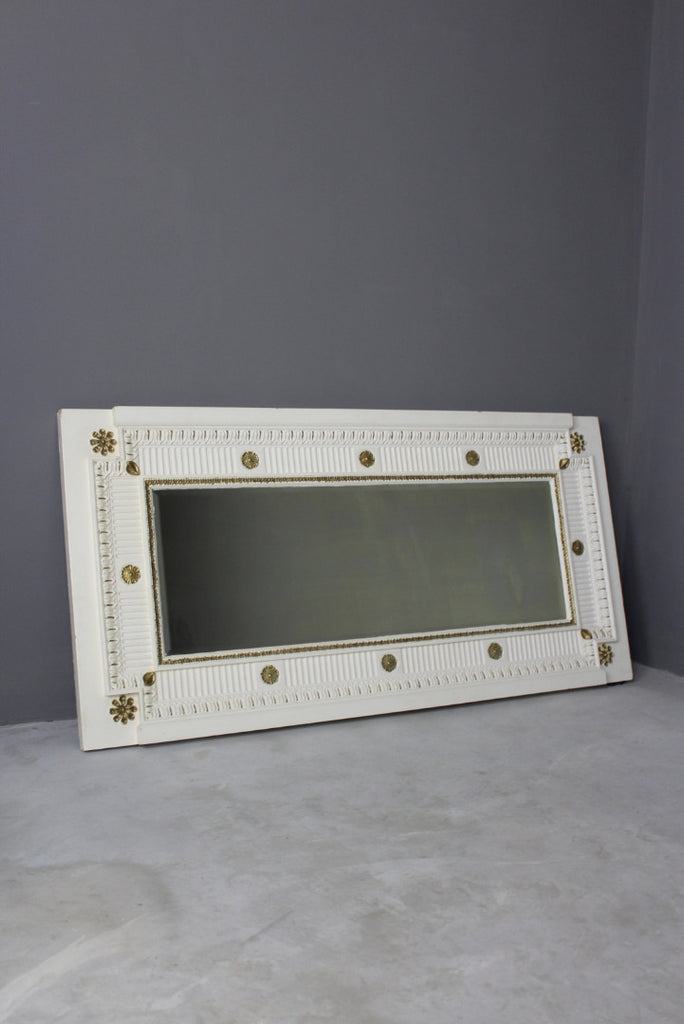 Large French Painted Wall Mirror - Kernow Furniture