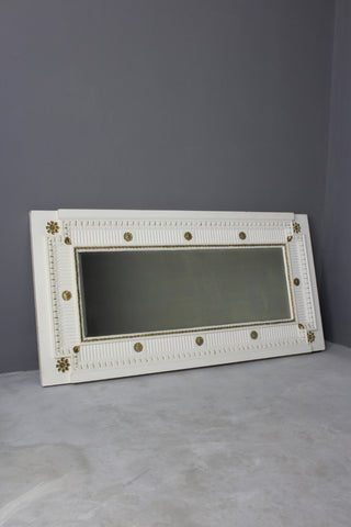 Large French Painted Wall Mirror