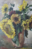 Large Still Life Sunflowers Picture