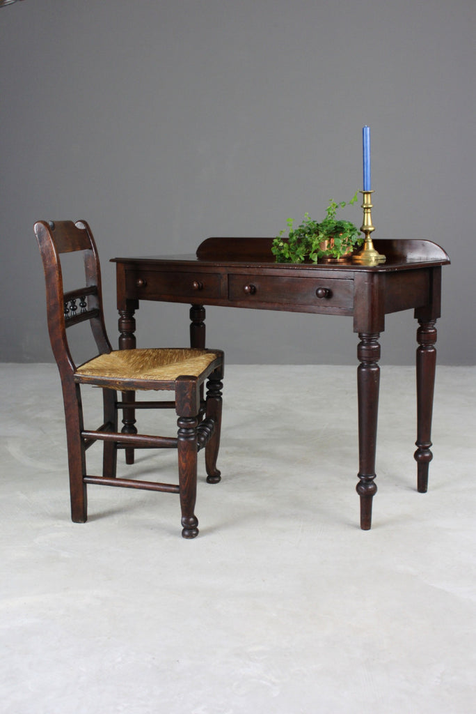 Victorian Mahogany Writing Table - Kernow Furniture