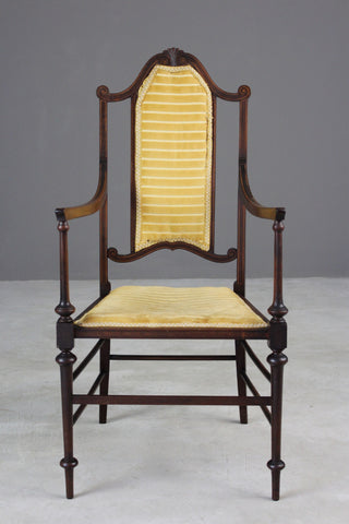 Edwardian Open Arm Chair