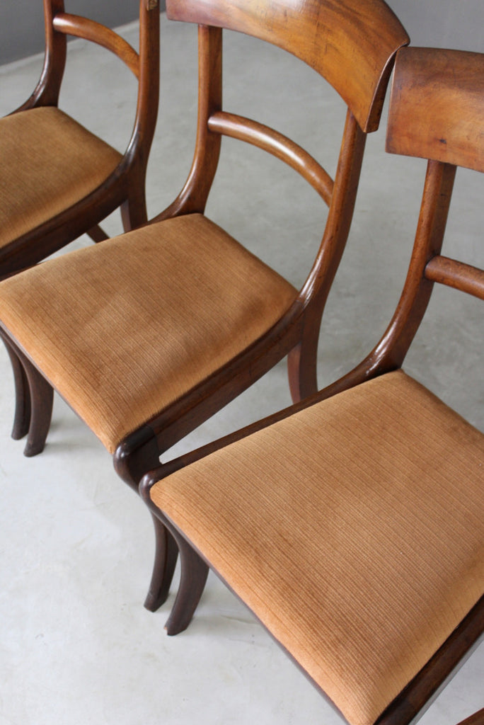 Antique Mahogany Dining Chairs - Kernow Furniture