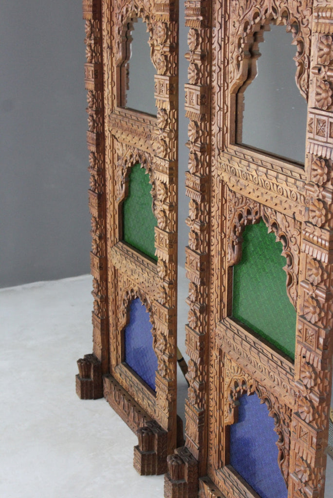 Pair Moorish Carved Panels