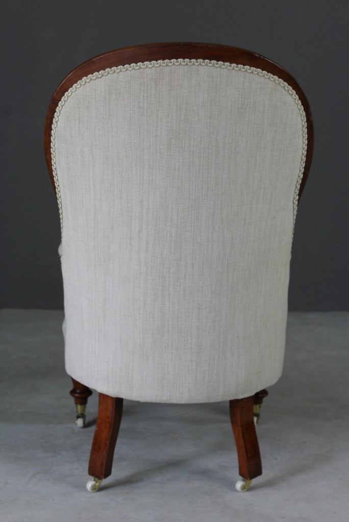 Victorian Button Back Armchair - Kernow Furniture