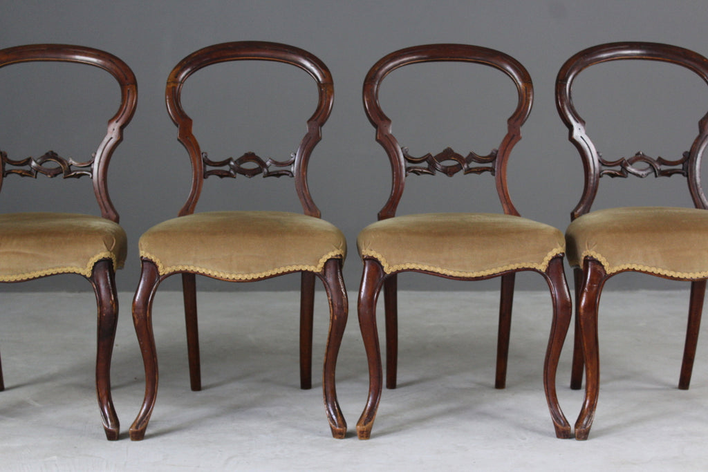 4 Victorian Dining Chairs - Kernow Furniture