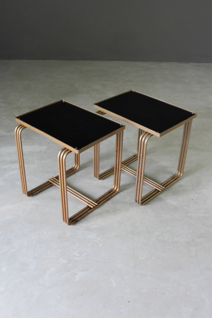 Pair Deco Style Side Tables - Kernow Furniture