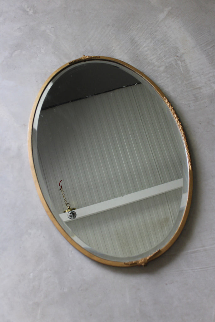 Vintage Gold Oval Mirror - Kernow Furniture