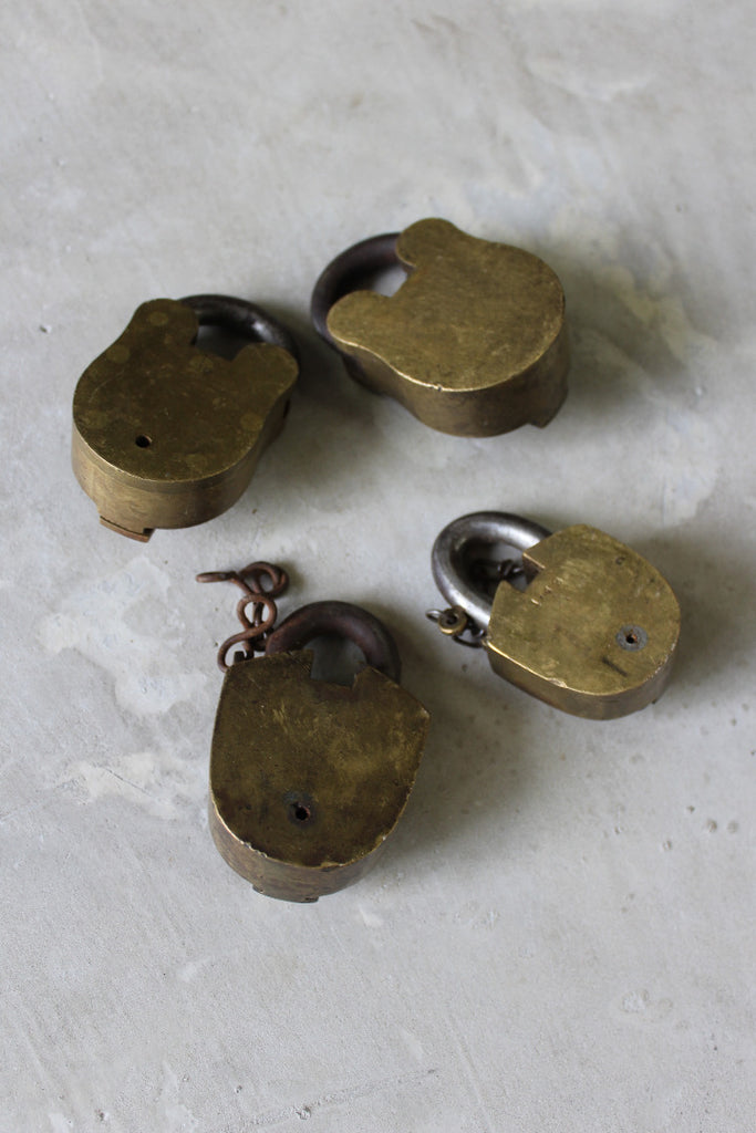 Vintage Brass Padlocks - Kernow Furniture