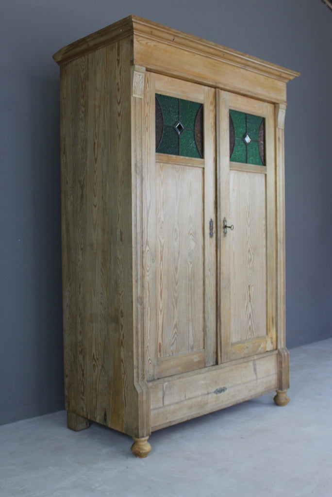 Antique Continental Pine Cupboard - Kernow Furniture